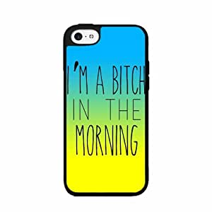 I'm A Bitch In the Morning- TPU RUBBER SILICONE Phone Case Back Cover iPhone 4 4s