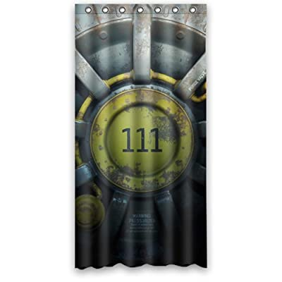 Custom Fallout Shower Curtain Stylish Waterproof Polyester Fabric Bathroom Deco 36 X 72