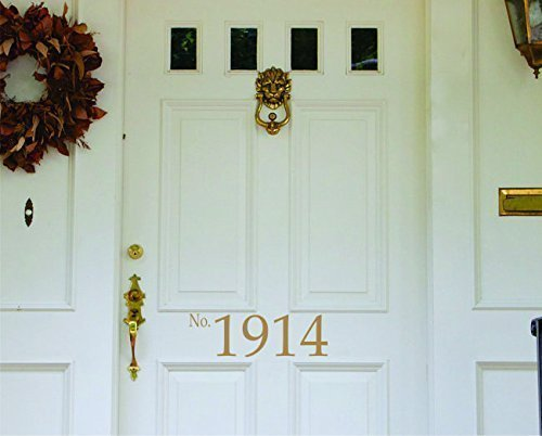 Front Door Decal - House Number Vinyl Lettering- Wall Art- Home Vinyl Wall Decals - SF