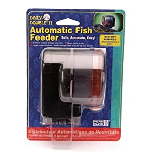 Penn-Plax Daily Double II Battery-Operated Automatic Fish Feeder 16