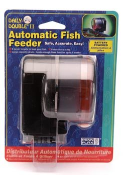 Penn-Plax Daily Double II Battery-Operated Automatic Fish Feeder ()