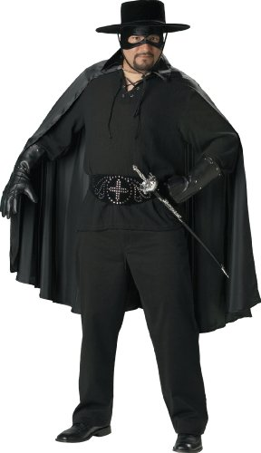 Fencing Black Costume (InCharacter Costumes Bandido Adult Plus Dress Costume, Black,)