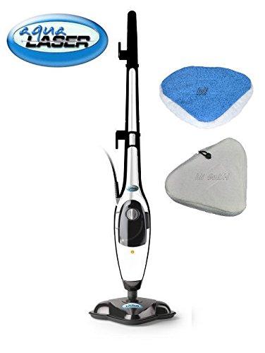 Aqua Laser ® Gold 2 in 1 Dampfreiniger und Handdampfer Dampfbesen Kombigerät Bodendampfreinigungsgerät
