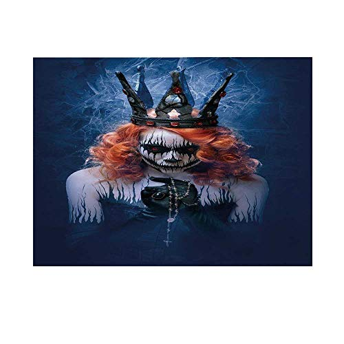 Queen Photography Background,Queen of Death Scary Body Art Halloween Evil Face Bizarre Make Up Zombie Backdrop for Studio,10x8ft -