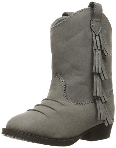 Baby Deer Girls' Western Fringe Toddler Boot, Grey, 10 M US Toddler