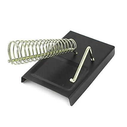 Rectángulo de 3 cm de base x 10 cm en espiral de metal soldador del soporte Holder - - Amazon.com