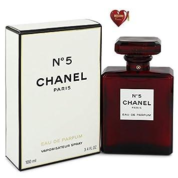 a80106d8d85 Amazon.com   Chánêl No 5 Red Perfume For Women Eau De Parfum Spray 3.4 oz.  Free! MSH 0.04 oz   Beauty