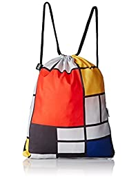 LOQI Bp.Pm.Co Composition with Red Yellow Museum Print Backpack, Multi, International Carry-On