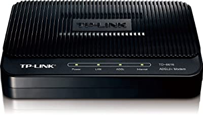 TP-LINK TD-8616 ADSL2+ Modem, Up to 24Mbps Downstream Bandwidth