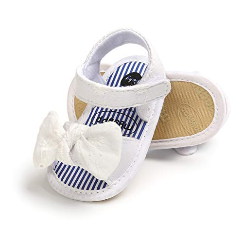 ENERCAKE Infant Baby Girls Summer Sandals Soft Sole Bowknots Flats Toddler First Walkers Crib Shoes