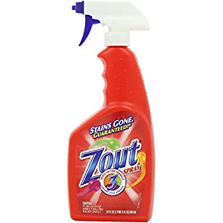 Zout Laundry Stain Remover Spray, Triple Enzyme Formula, 22 Ounce (Four Packs)