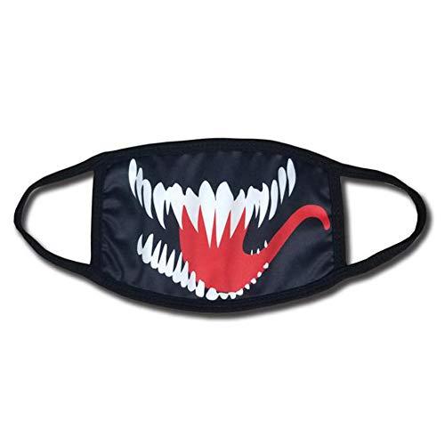 Shancon Venom Cosplay Mouth-Muffle Mask Cotton Dust-Proof Black