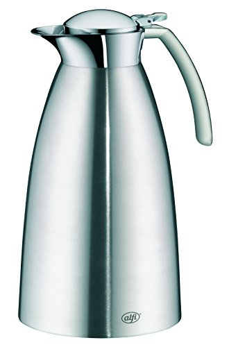 alfi Gusto Top Therm Vacuum Insulated Stainless Steel Thermal Carafe for Hot and Cold Beverages, 1.5 L, Stainless Steel by Alfi Carafes