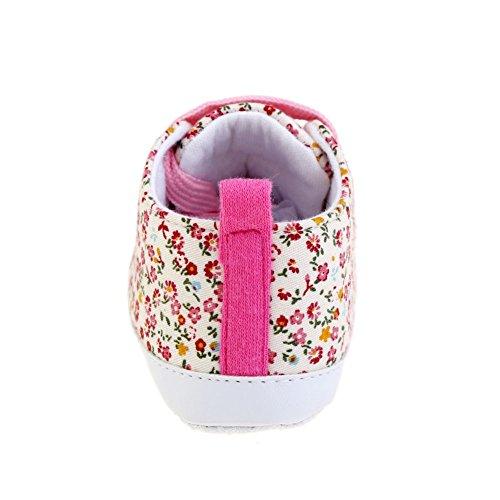 ROPALIA Kids Babyschuhe weiche Sohle beil?ufige Baumwolle Sneaker Prewalker Pink