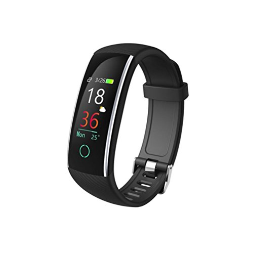 Mp3 Player Quartz Watch - Botrong Smart Color Screen Blood Pressure Exercise Heart Rate Pedometer Smart Watch (Black)