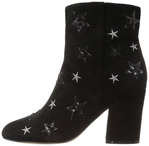The Fix Women's Nash Star Sequin Oval Heel Ankle Bootie, Black, 8 B US by The Fix (Image #4)