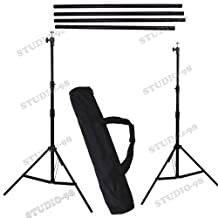 CANADA STUDIO-98 PROFESSIONAL PHOTOGRAPHY 10' W x 8.5' FT H Background Stand with Bag for Backdrop Muslin Paper
