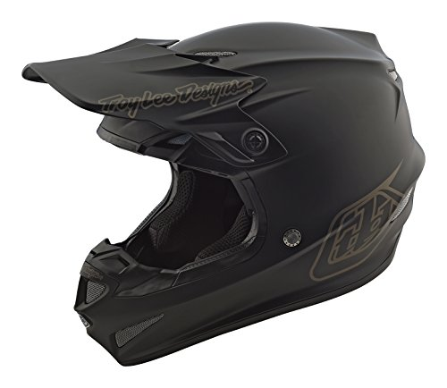 2018 Troy Lee Designs SE4 Polyacrylite Mono Helmet - Black / Large - Mono Motorcycle Helmets