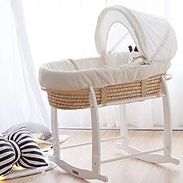 Corn Husk Baby bassinets Newborn Bed Infant Sleeping Basket Crib Cradle Baby Bed Hand Basket Chair Sleeping Basket