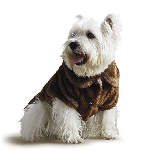 Frontgate Faux Fur Pet Jacket, Chinchilla, X-Large