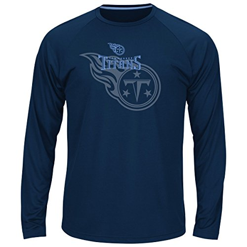 (Majestic Tennessee Titans NFL Swift Pass Men's Cool Base L/S Shirt - Navy)