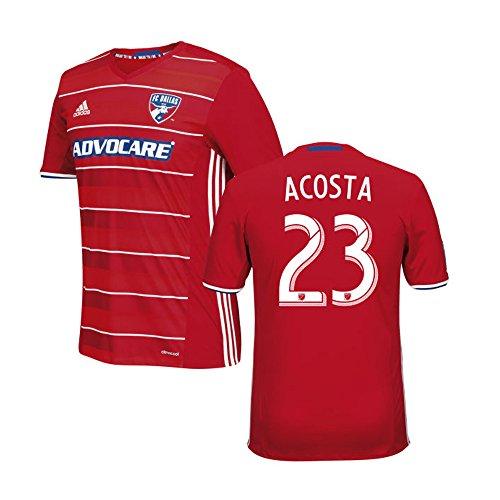 アミューズ話をする構成Adidas ACOSTA #23 FC Dallas Home Jersey 2016 (Authentic name & number) /サッカーユニフォーム FCダラス ホーム用 アコスタ