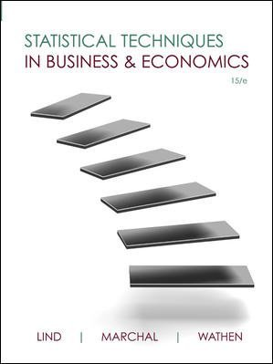Book cover from Statistical Techniques in Business and Economics (Mcgraw-hill/Irwin Series Operations and Decision Sciences) by Douglas Lind