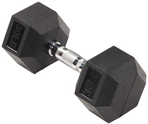 Sporzon! Rubber Encased Hex Dumbbell in Pairs or Singles