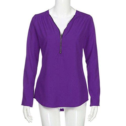 ABCone Felpa Tops Blu Splicing Autunno a Collo Cravatta Donna Lunghe Pullover Casual con Maniche T Camicette Strisce Elegante Shirt Camicie a rwqwB4