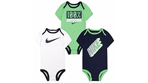 Nike Boys' Infant 3 Pack Bodysuit Set (3-6 Months,