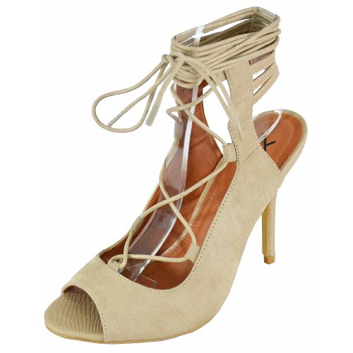 Women's Stiletto Beauty Natural Heels 1 X2B gptwxdTqq