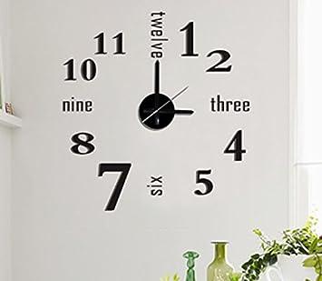 Buy Modern Home Self Adhesive DIY 3D Wall Clock Linus Online at