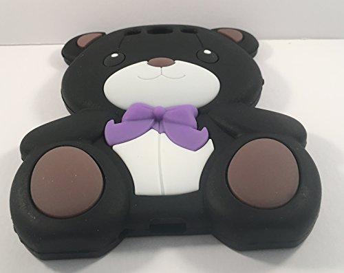 SKS Distribution® negro caja suave del silicón del oso del arco lindo estupendo para Samsung Galaxy S3 I9300