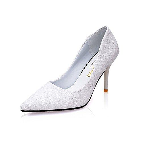 de altos Sugerencia alto talón zapatos mujer zapatos nueva cm y white punta de sandalias de 9 zapatos único 5 tacones frqwPf