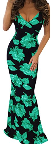 Roberoody Women's Floral Off Shoulder Bodycon Maxi Dress for -