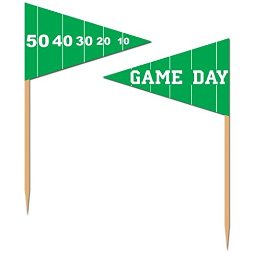 Beistle 60106 50-Pack Game Day Football Picks for Parties, 2-1/2-Inch