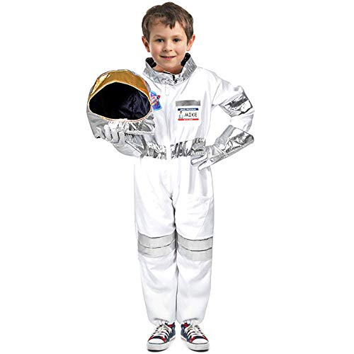 Mummy Dress Up (Children's Astronaut Costume Space Pretend Dress up Role Play Set for Kids Boys Girls with a Free America Flag Pin)