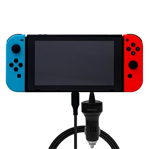 Price comparison product image Nintendo Switch Car Charger,SKOLOO Rapid Portable Car charger Adapter 12w/2.4A with USB Cable Smart Technology for Nintendo Switch Host Console