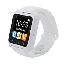 Iuhan® Bluetooth Smart Wrist Watch Pedometer Healthy for iPhone LG Samsung PHONE (White)