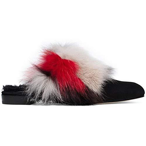 (Stuart Weitzman Womens Furgetit Loafer Mule Suede Closed, Multicolor, Size 6.5)