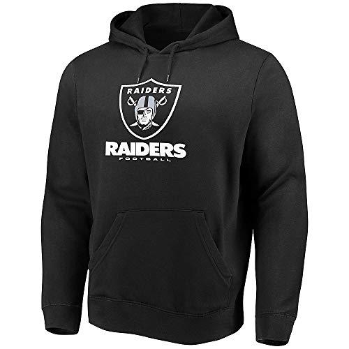 NFL Team Apparel Oakland Raiders Football Men's Large Hooded Sweatshirt - Black Las Vegas ()