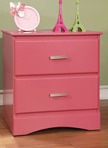 Furniture of America Kolora Youth Nightstand, Pink by HOMES: Inside + Out