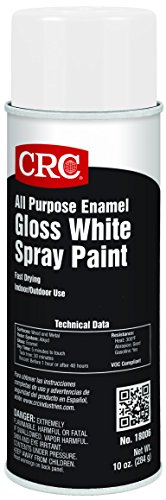 CRC All Purpose Enamel Spray Paint, 10 oz Aerosol Can, Gloss