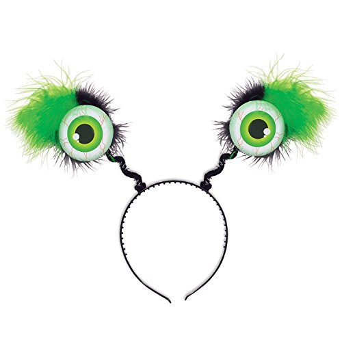 Beistle 00530-G 1 Piece Green Eyeball Boppers, One Size Fits (Alien Halloween Costumes For Women)