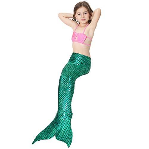 LOTOYS 3 Pcs Girls Swimsuit Bikini Mermaid Tails for Swimming Can Add Monofin Travel Back to School Office Gift by LOTOYS (Image #3)