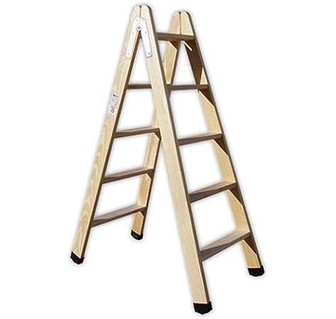 DOJA Industrial | Escalera pintor PLABELL BLD5 | Peso 7Kg Madera (5 Peldaños): Amazon.es: Bricolaje y herramientas