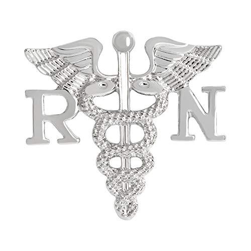 Medicine RN Brooch Pins Creative Fashion Nurse Angel Wing Alloy Brooch Best Memento Scepter Brooch Nurse Gift Brooches (Angel Fashion Accessories)