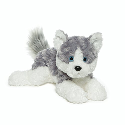 GUND Blitz Husky Dog Stuffed Animal Plush, Gray and White, - Toy Dog Gund White