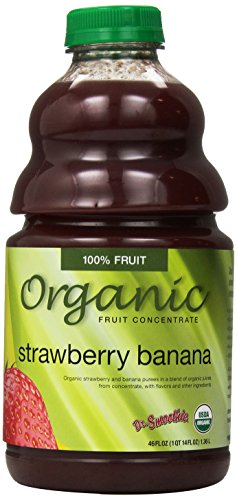 Dr. Smoothie Organic Strawberry Banana Fruit Smoothie Concentrate, 46 Fluid Ounce