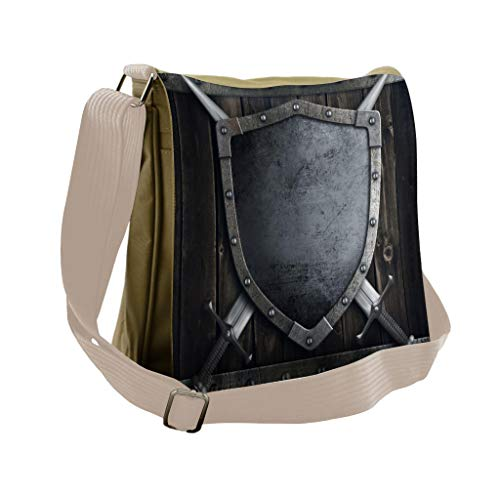 Lunarable Medieval Messenger Bag, Middle Ages Wooden Gate, Unisex Cross-body